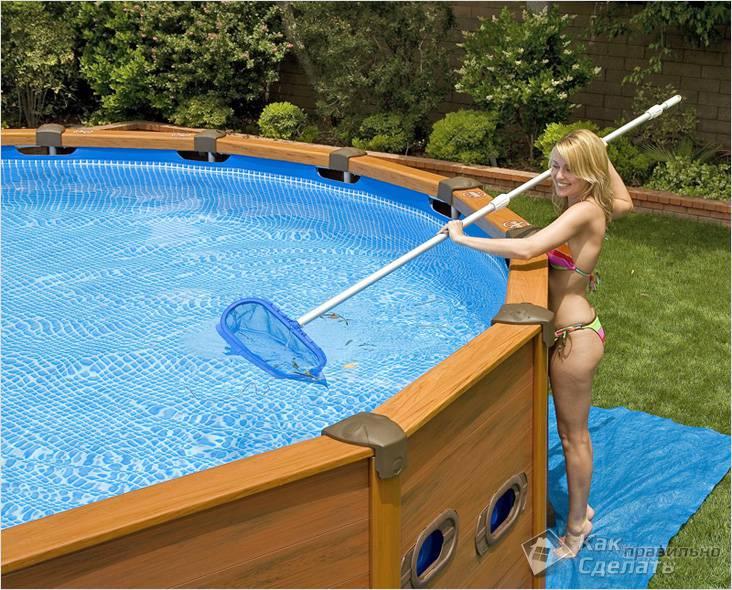 Бассейн на даче своими руками: инструкция