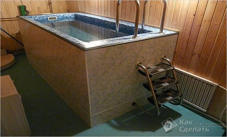 Бассейн в бане своими руками