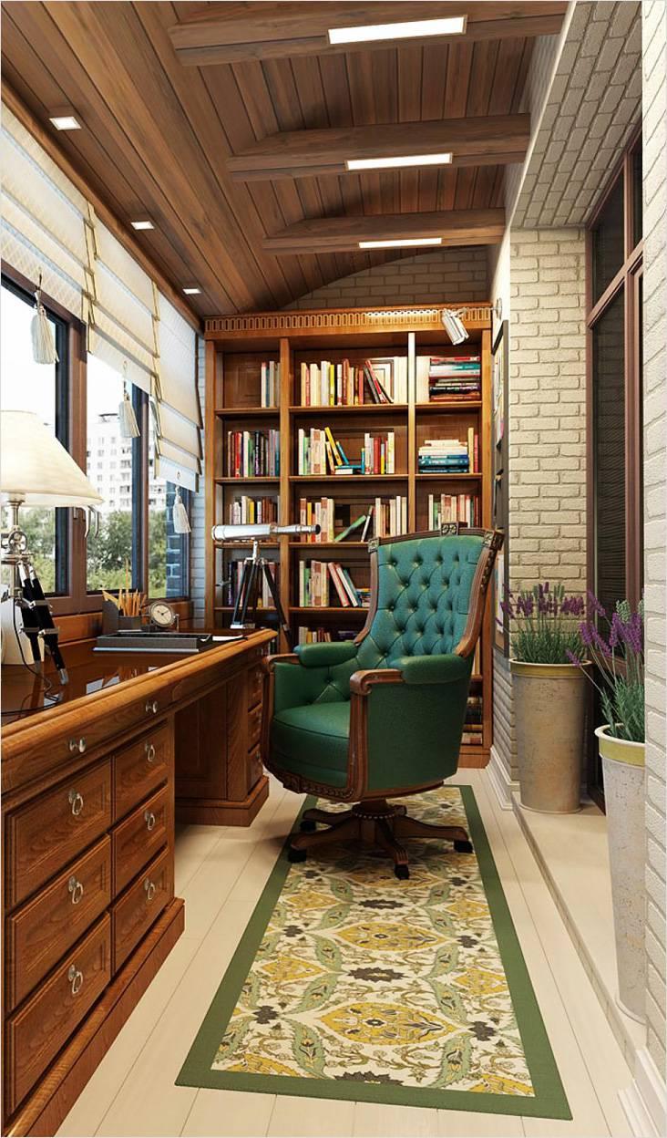 Дизайн балконов 75 фото