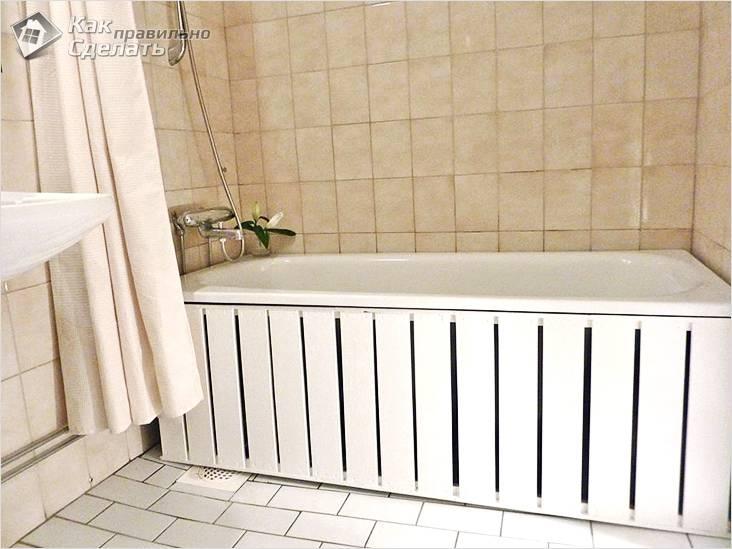 Экран под ванну своими руками