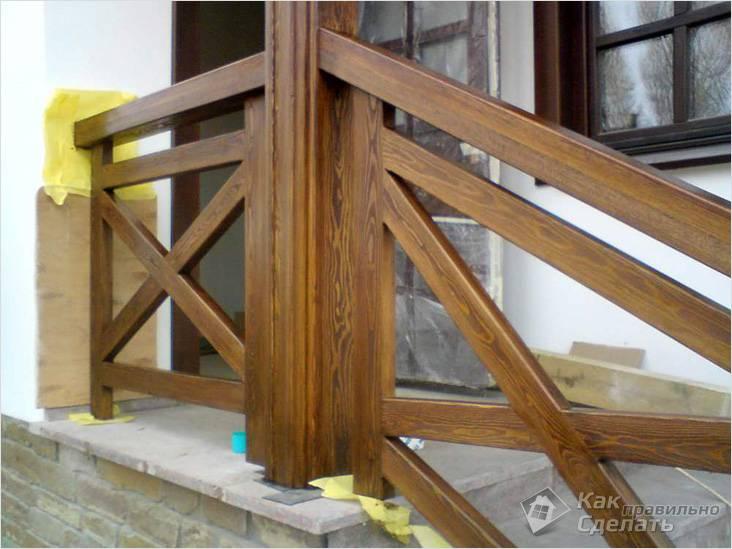 Как сделать перила для лестницы