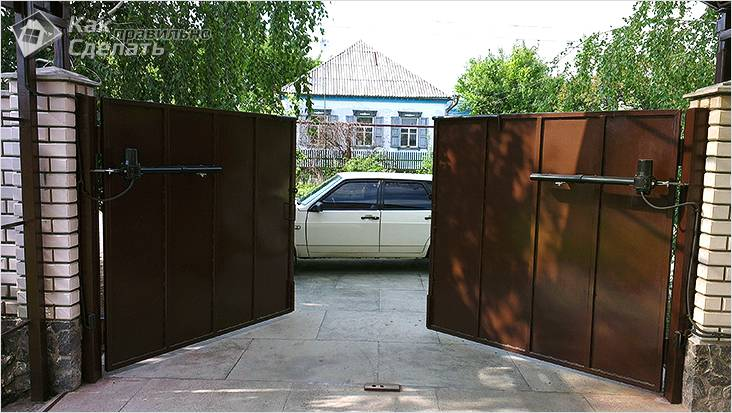 Как сделать распашные ворота